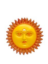 Bright -Yellow -FRP Sun Face Wall Mount
