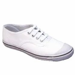 Kayvee Footwear White School Canvas Shoe