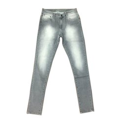 Party Wear Mens Grey Denim Jeans