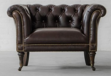 Pleasing Vintage One Seater Sofa In Genuine Leather Leather Couches Gmtry Best Dining Table And Chair Ideas Images Gmtryco