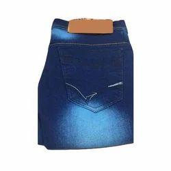 Mens Comfortable Faded Denim Jeans