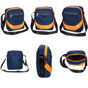 Killer Brisbane Stylish Travel Sling Bag - Navy-Orange