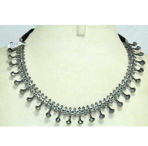 8291c935c87f9 Silver Necklace Vintage Antique Jewellery With Ruby Stone