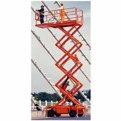 Orange Stainless Steel Hydraulic Scissor Lift Rental, Application/Usage: Industrial