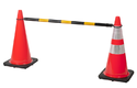 Retractable Cone Bar Barricades and Barriers