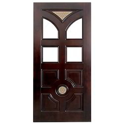 Teak Wood Glass Door