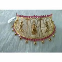 Ethnic Gold Choker Necklace