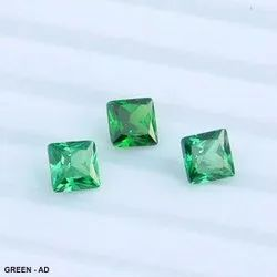 Cubic Zirconia Green Square