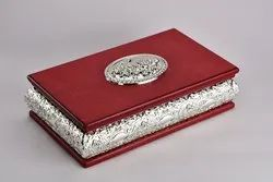 Rectangle Wooden Silver Box