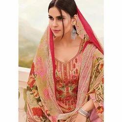Embroidered 42 inch Kadai Cotton Pakistani Suit