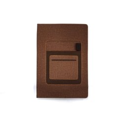 DIARY WITH MOBILE POCKET