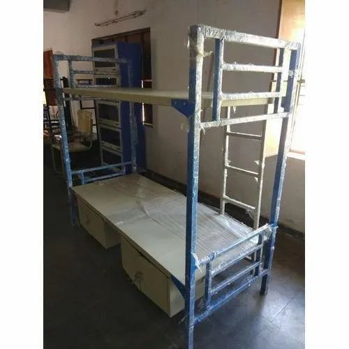Color Coated MS Locker Bunk Bed, Size: 6 to 7 Feet (Height)