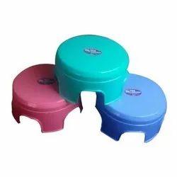 Round Bathroom Plastic Stool