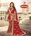Bridal Wear Georgette Saree with Dupatta - Bahurani-04