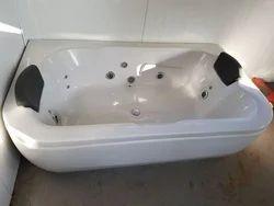 Bathware India Acrylic Bath Tub with Jacuzzi Massage