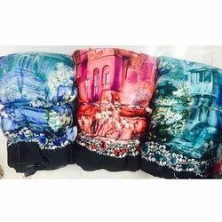 Printed Georgette Satin Fabric