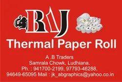RAJ Plain White Printer Thermal Paper Roll, GSM: Less than 80 GSM