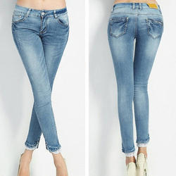 Ladies Blue Slim Fit Denim Jeans