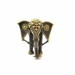 Artisanns Guild Golden Brass Elephant Decorative Statue