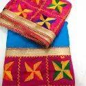 Sahej Ladies Chiffon Phulkari Patiala Suit