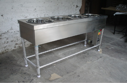 Stainless Steel Four Bain Marie Round Container