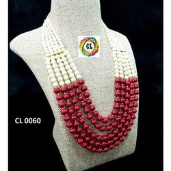 5 Layered Multiple Color Indian Traditional Festival Necklace Set