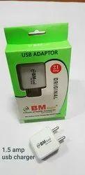 BM Gold 2.1 amp Single USB Adapter