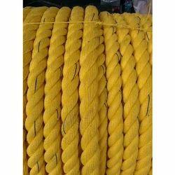 Yellow Shipping Polypropylene Rope