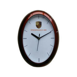 Brown And White Decorative Wall Clock