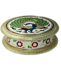 Meenakari Peacock Dry Fruit Box
