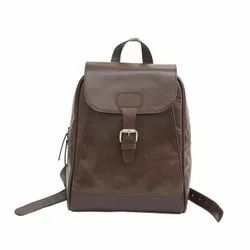 Genuine Buffalo Leather Handmade Unisex Backpack For College and Schools and Daily Use Also