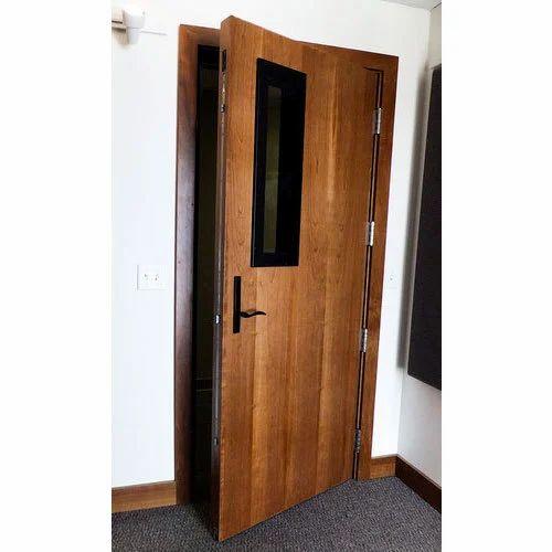 Brown Wooden Soundproof Door