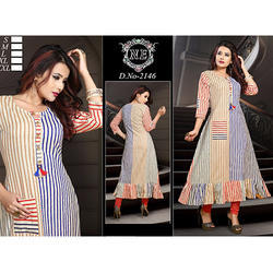 Cotton Striped Kurti