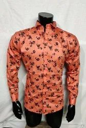 Cotton Full Sleeves Fancy Printed Shirt, Size: M-XL
