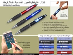塑料魔术扭转笔使用LOGO突出L- 120