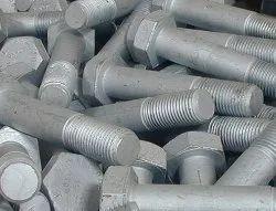 Silver Mild Steel HOT DIP GALVANIZED BOLT, For Industrial, 50 Kg