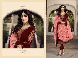 Georgette Churidar Hit Design Fiona Latest Straight Style Salwar Suit