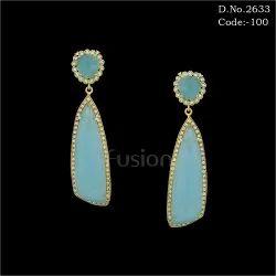 Designer Ethnic Hanging Stone Earring