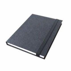 Plain Black Handmade Paper Diary
