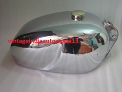 New Royal Enfield Chromed Constellation Petrol Tank With Brass Cap And Tap