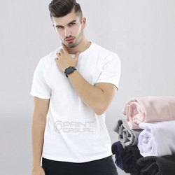 180 GSM  Boiwash Cotton Corporate Round Neck T Shirt