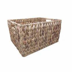 Deep Rectangular Wicker Laundry Box