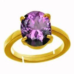 Amethyst Gold Ring Asthdhatu Gemstone