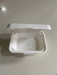 Greendale Paper Biodegradable Clamshell Box, For Food Delivery, Size: 600ml