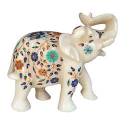 Indian Stone Inlay Work With Elephant
