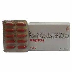 Heptos  Ribavirin 200mg capsules