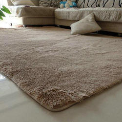Plain Rectangular Living Room Floor Carpet