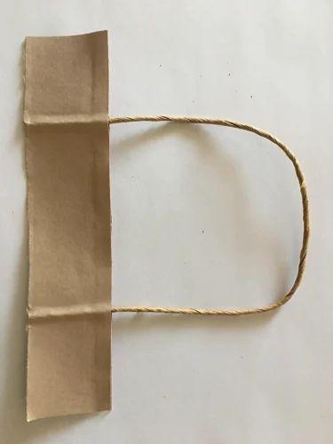Brown Sack Kraft Paper Twisted Paper Bag Handle, Size/Dimension: Regular Size, Packaging Type: Cartoon