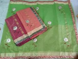 Kota Doria Heavy Work Saree