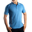 Men's Cotton Royal Blue Collar T Shirt